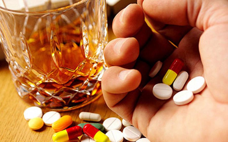 Прием лекарств с алкоголем