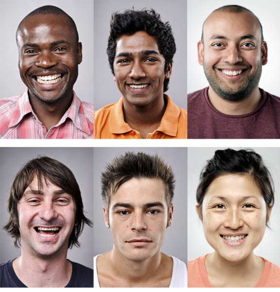 мужчины разных наций