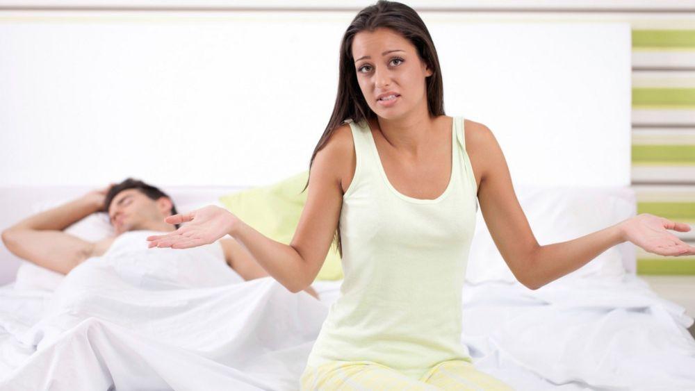 У женщины проблемы в постели